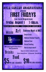 Art Center Underground presents First Fridays featuring Baker Explosion!